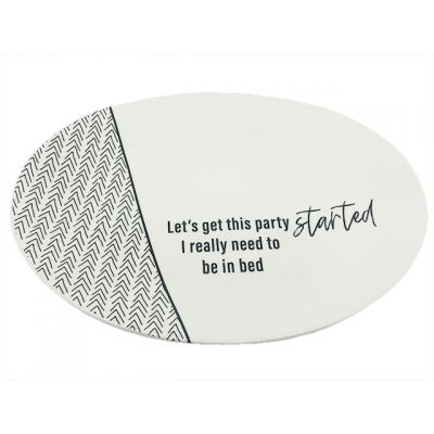 Let's Get This Party Started Ceramic Platter