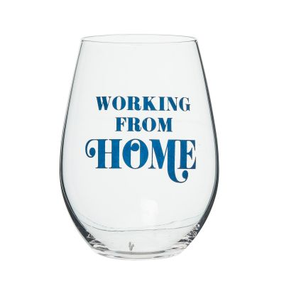 Working From Home Wine Glass