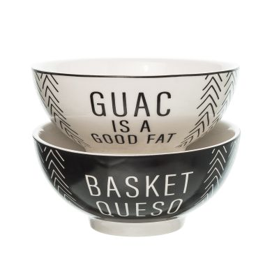 Queso/Guac Ceramic Stacking Bowls Set of 2