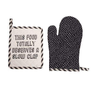 This Food Totally Deserves A Slow Clap Pot Holder & Oven Mitt Set of 2