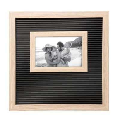 Black and Natural Letter Board Frame