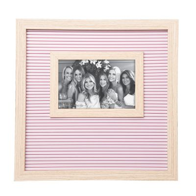 Pink and Natural Letter Board Frame