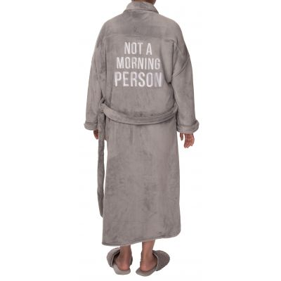 Not A Morning Person Fuzzy Robe Small/Med