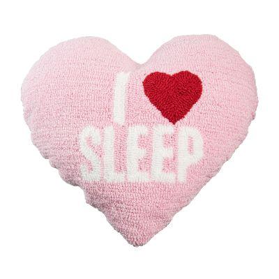 I Heart Sleep Heart Shaped Hook Loop Pillow