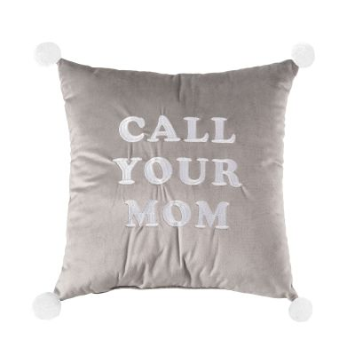 Call Your Mom Velvet Pillow
