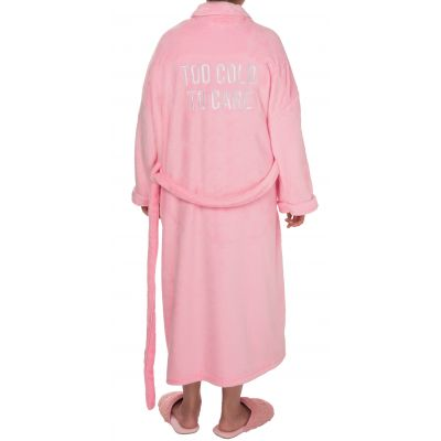 Too Cold To Care Fuzzy Robe Large/Xlarge