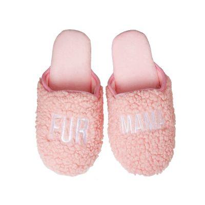 Fur Mama Fabric Slippers Large/Xlarge