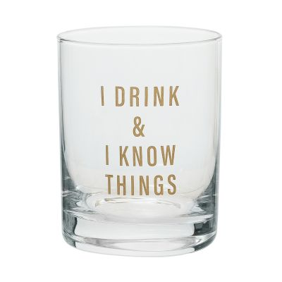 I Drink & I Know Things Rocks Glass