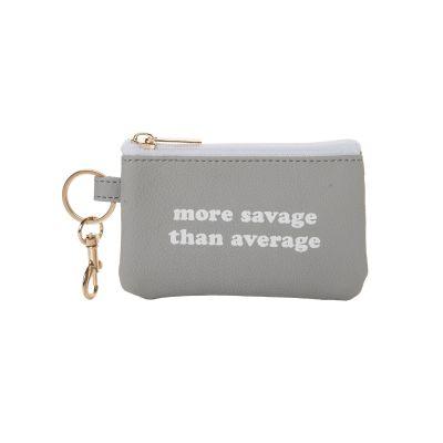 Savage Than Average Keyring Zip Wallet