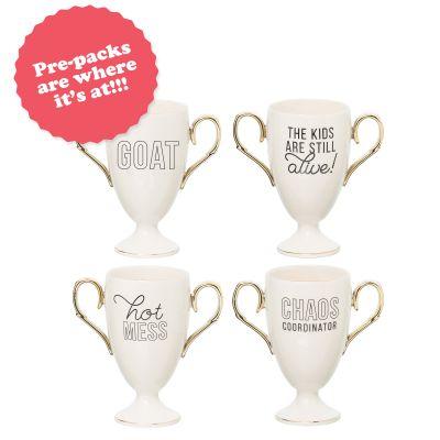 Trophy Mug Prepack (16 pcs) 4 pcs each of 4 styles