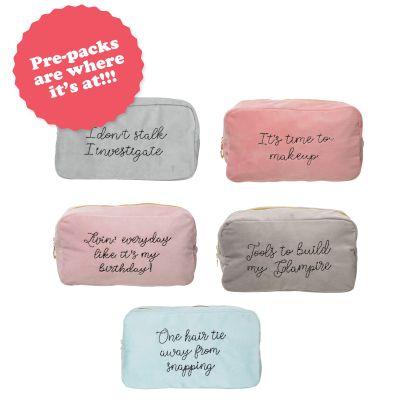 Velvet Bag Prepack (10 pcs) 2 pcs each of 5 styles