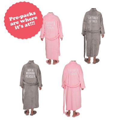 Robes Prepack (8 pcs) 1 sm/med, 1 lg/xl each of 4 styles
