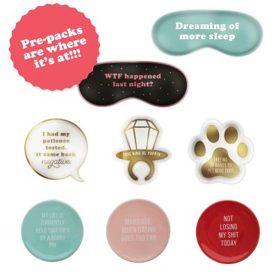 Trinket Tray Prepack (48 pcs) 6 pcs each of 8 styles