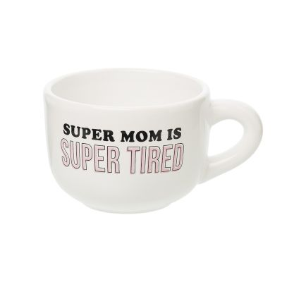 Super Mom Is Super Tired Cappuccino Mug