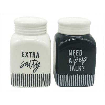 Need A Pep Talk/Extra Salty Ceramic S/P In A Box Set of 2