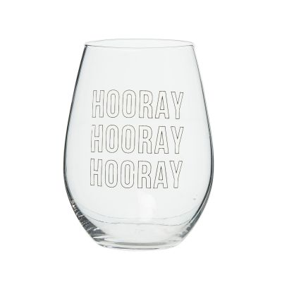 HOORAY Wine Glass