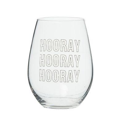HOORAY HOORAY HOORAY Wine Glass