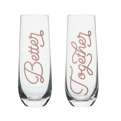 Better/Together Champagne Glasses Set of 2
