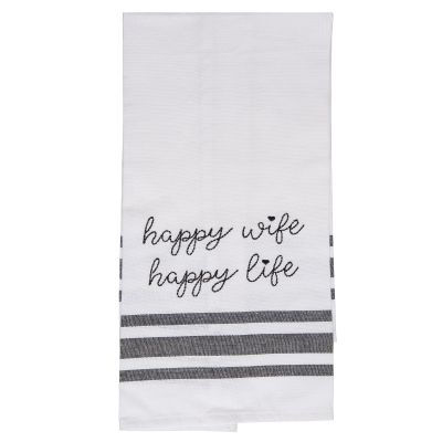 Happy Wife Happy Life Tea Towel