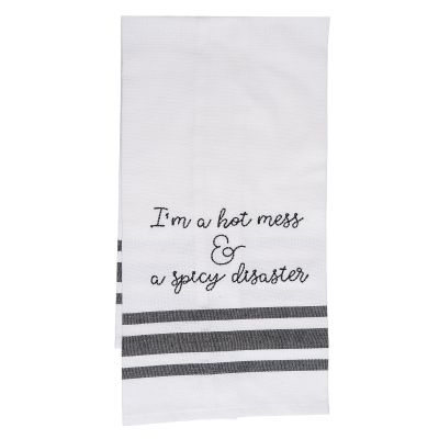 I'm A Hot Mess & A Spicy Disaster Tea Towel