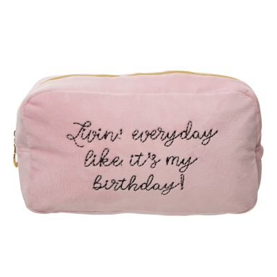 Livin' Everyday Large Velvet Cosmetic Bag