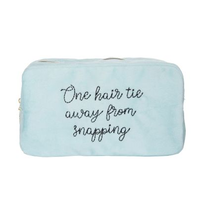 One Hair Tie Away Large Velvet Cosmetic Bag