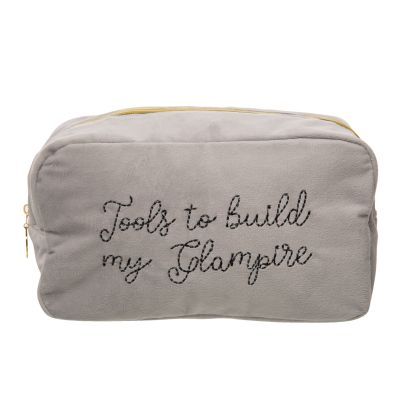 Tools To Build My Glampire Large Velvet Cosmetic Bag