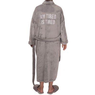 My Tired Is Tired Fuzzy Robe Small/Med