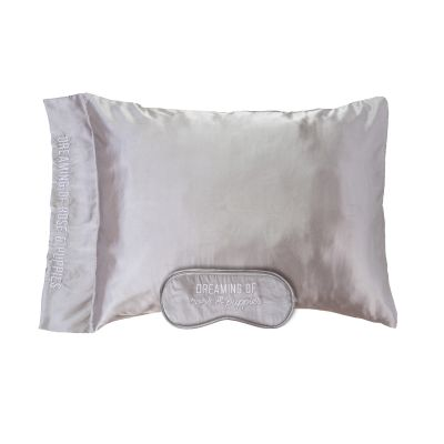 Dreaming Of Rose & Puppies Satin Eye Mask & Pillow Case