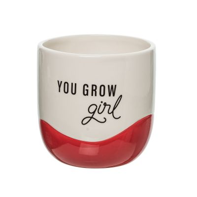You Grow Girl Ceramic Planter