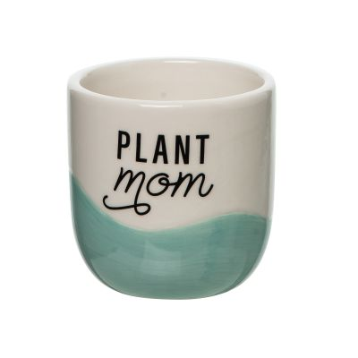Plant Mom Small Ceramic Planter
