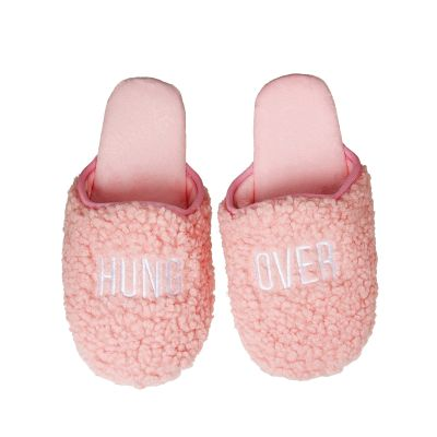 Hung Over Fabric Slippers Large/Xlarge