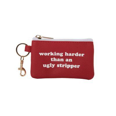 Working Harder Keyring Zip Wallet