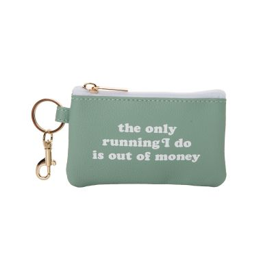 The Only Running I Do Keyring Zip Wallet