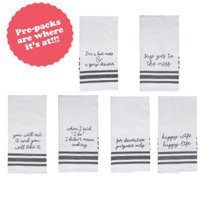 Tea Towel Prepack (24 pcs) 4 pcs each of 6 styles